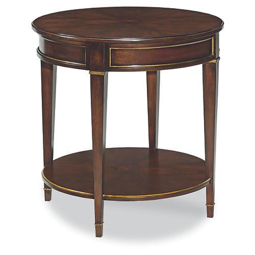 La Salle Side Table, Mahogany