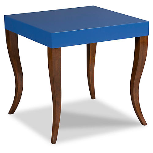 Gabrielle Side Table, Blue