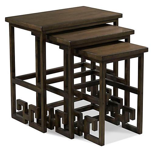 Asst. of 3 Turner Nesting Tables, Mink
