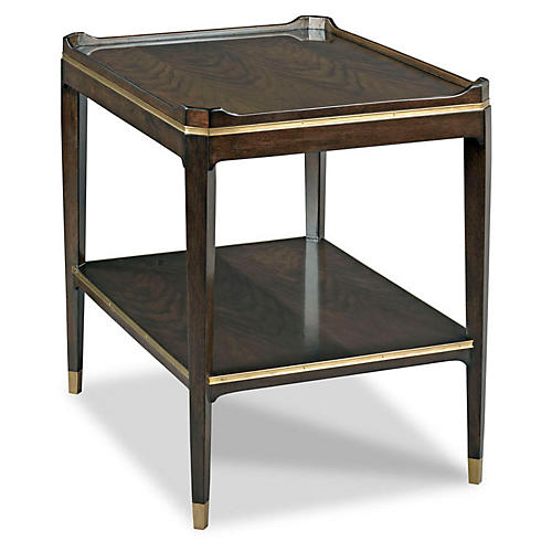 Emery Square Side Table, Mink