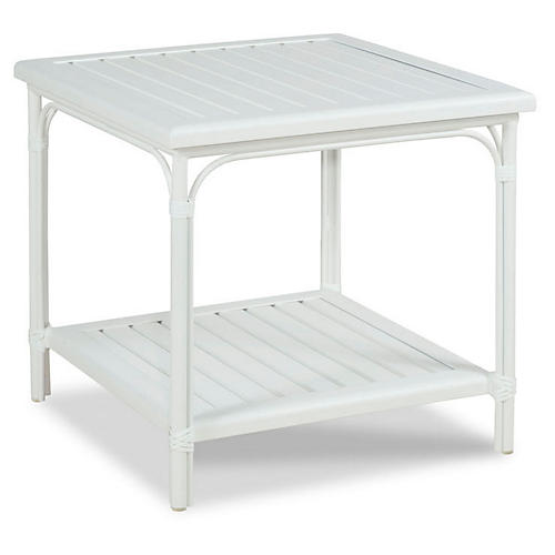 Carlyle Outdoor Side Table, White