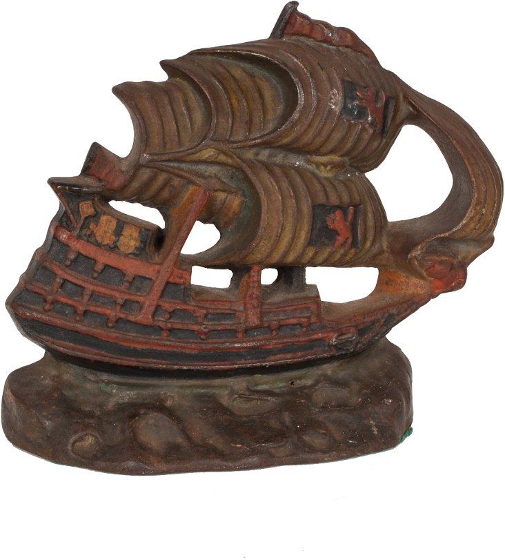 Antique Iron Pirate Ship