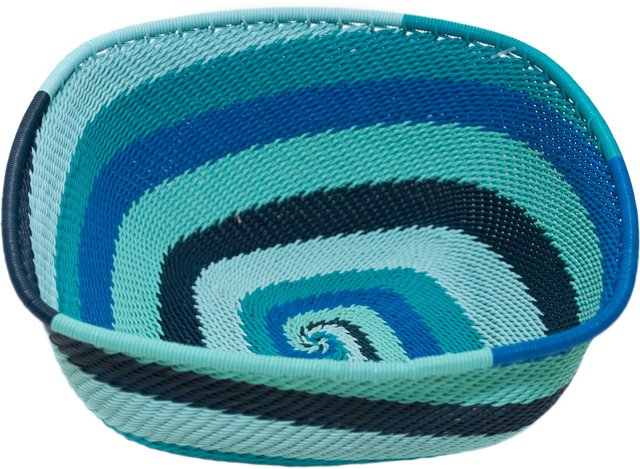 Square Telephone Wire Bowl, Ocean