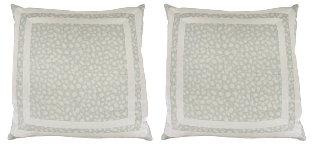 Custom 'Spot On' Pillows, Pair