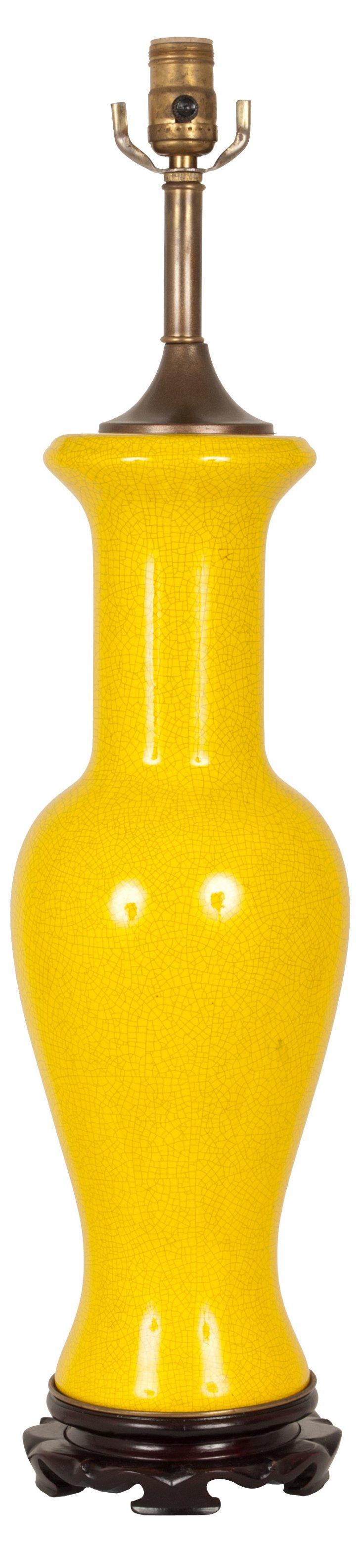 Canary Yellow Lamp