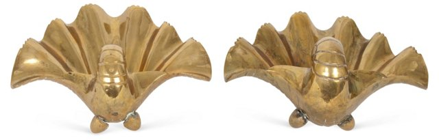 Brass Seashells, Pair