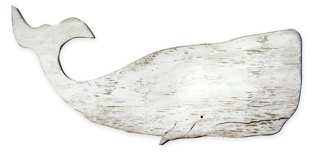 """41"""" Moby Whale, Oyster White"""