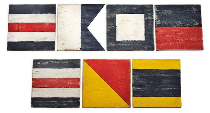 """Sailing Flags """"Cape Cod"""" Letter Set"""