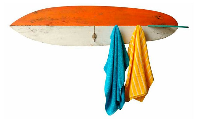 Surfboard Towel Hook, Orange