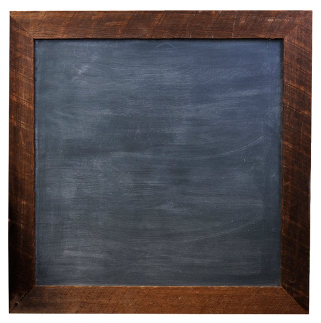 "30"" Square Chalkboard, Rustic"