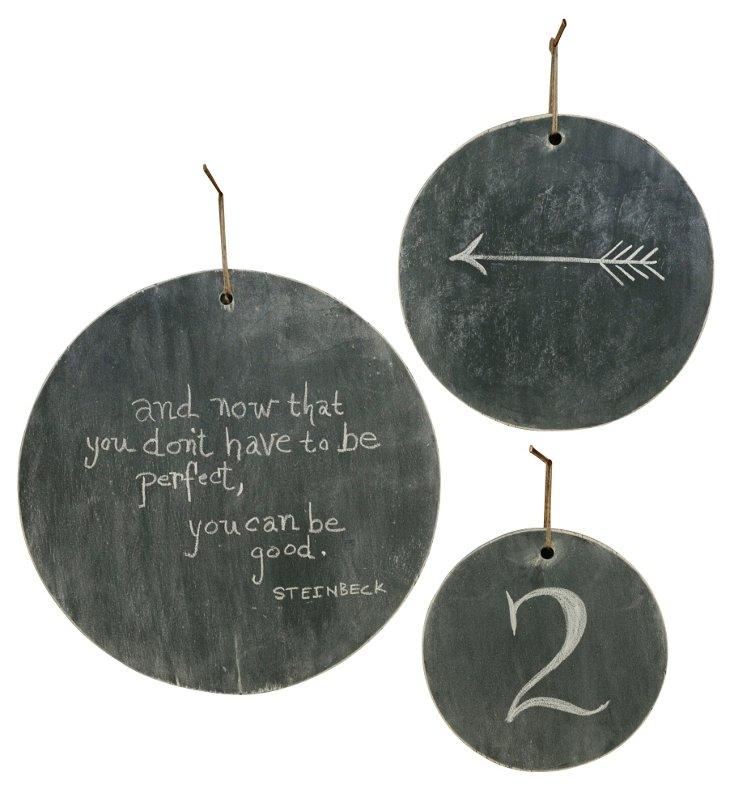 Circle Chalkboard Assortment, Black