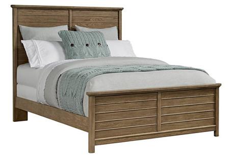Driftwood Park Panel Bed, Natural