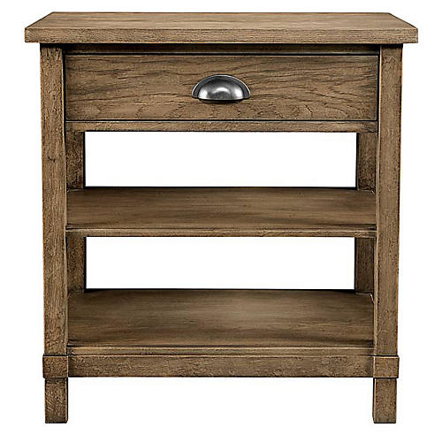 Single Drawer Nightstand, Natural