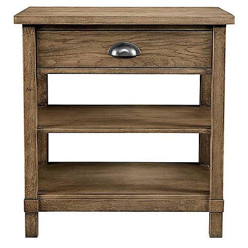 Driftwood Park 1-Drawer Nightstand, Birch