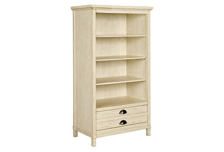 Driftwood Park Bookcase, Whitewash