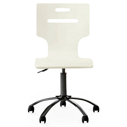 Clementine Court Desk Chair, White