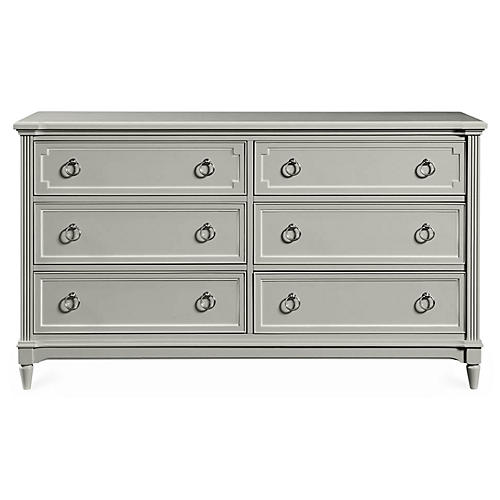Clementine Court Double Dresser, Gray