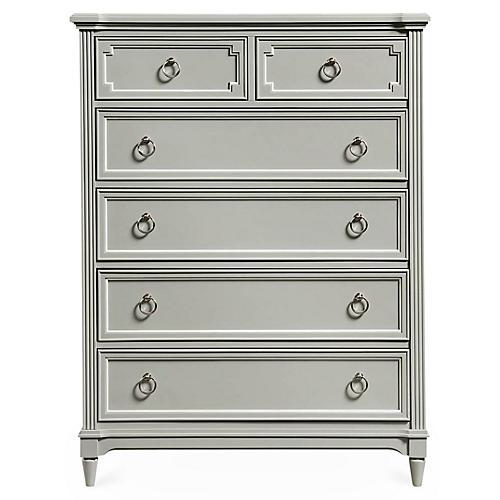 Clementine Tall Dresser, Gray