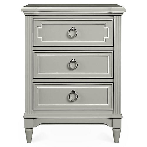 Clementine Court Nightstand, Gray