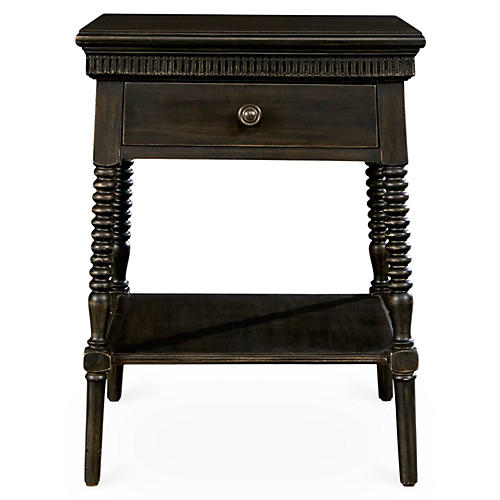 Smiling Hill 1-Drawer Nightstand, Java