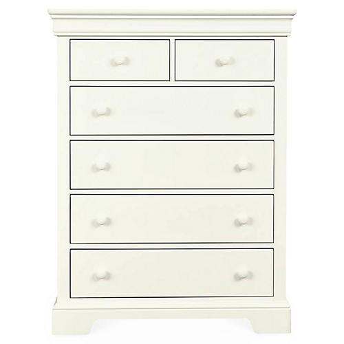 Teaberry Lane Tall Dresser, Stardust White