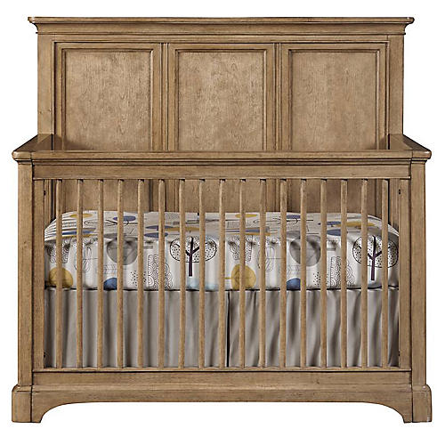 Chelsea Square Built To Grow Crib, Khaki