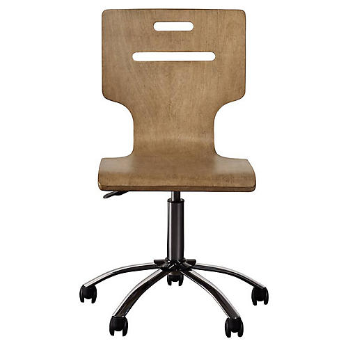Chelsea Square Desk Chair, Toast