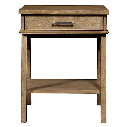 Chelsea Square 1-Drawer Nightstand, Toast
