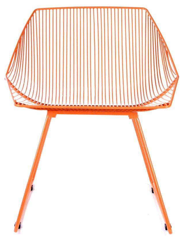 Bunny Retro Iron Chair, Orange