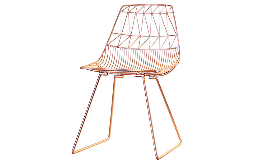 Lucy Wire Chair, Copper