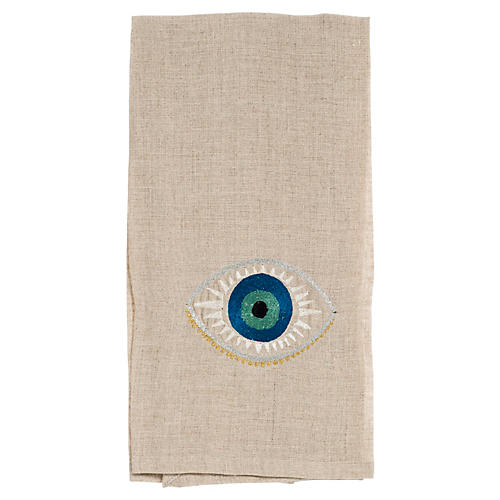 Evil Eye Tea Towel