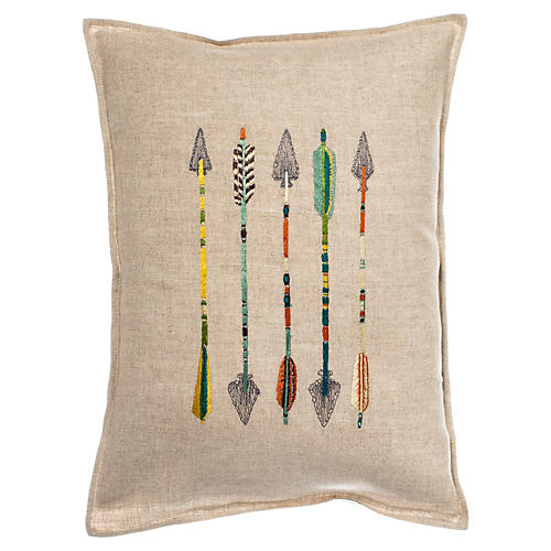 Five Arrows 12x16 Linen Pillow