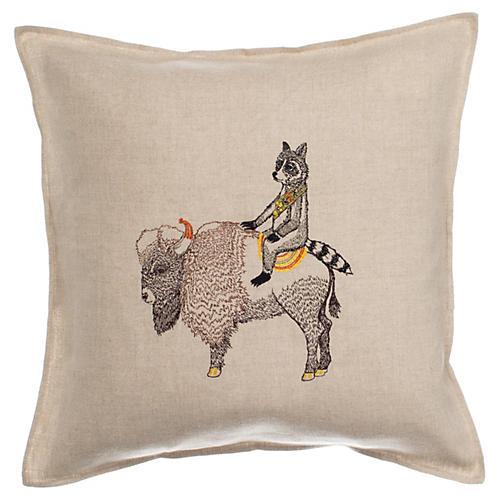 Sentinel 16x16 Pillow, Linen