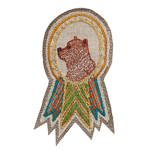Bear Badge Pin