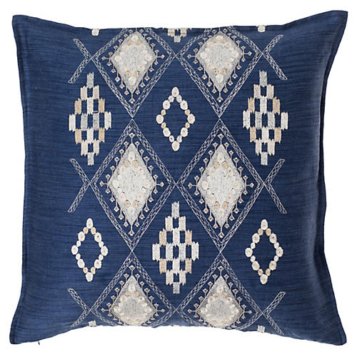 Portico 20x20 Pillow, Indigo