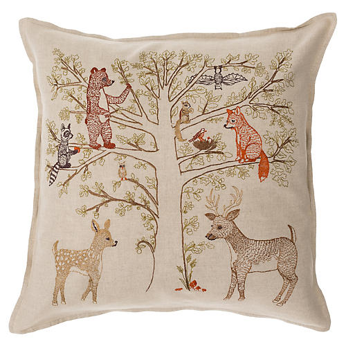 Woodland Living Tree 16x16 Pillow