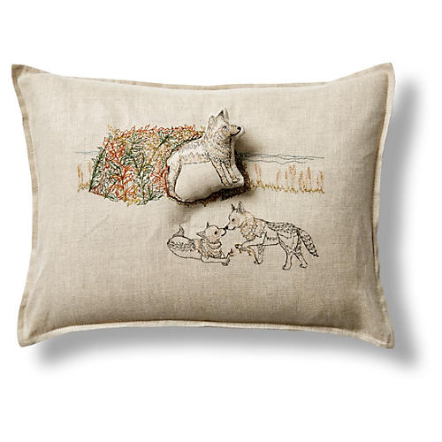 Coyote 12x16 Linen Pillow
