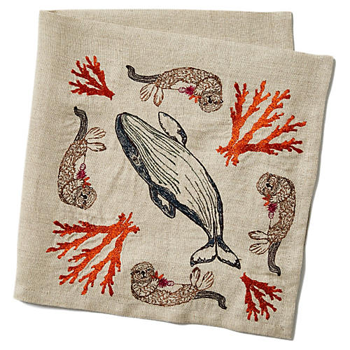 Coral Forest Linen Napkin