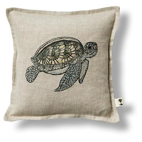 Sea Turtle 7x7 Pillow