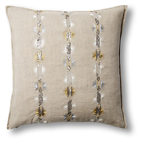 Exclusive Starburst 18x18 Linen Pillow