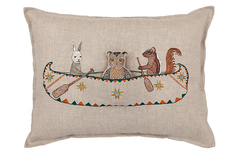 Canoe 12x16 Pillow