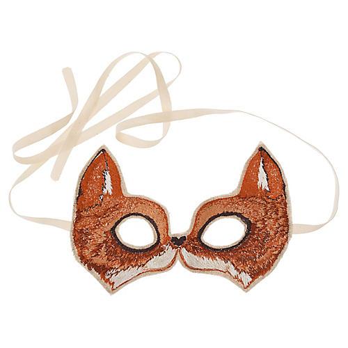 Fox Mask, Brown/Multi