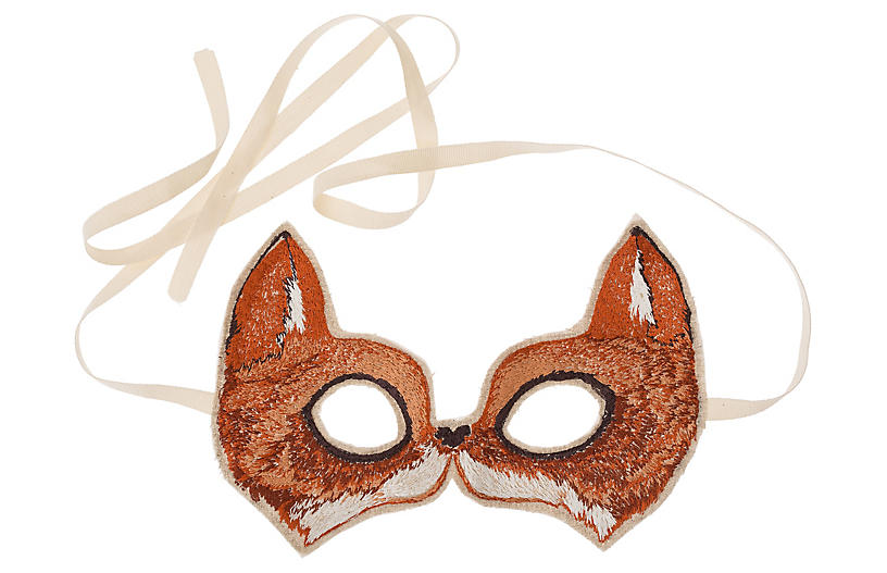 Fox Mask, Brown/Multi