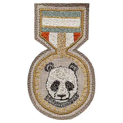 Panda Badge, Beige/Multi