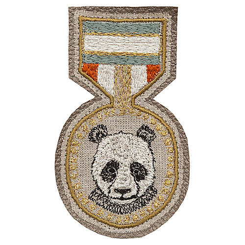Panda Badge, Beige/Multi
