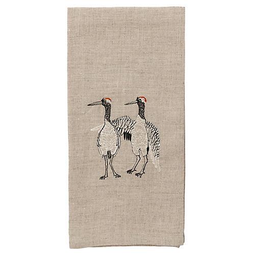 Cranes Tea Towel