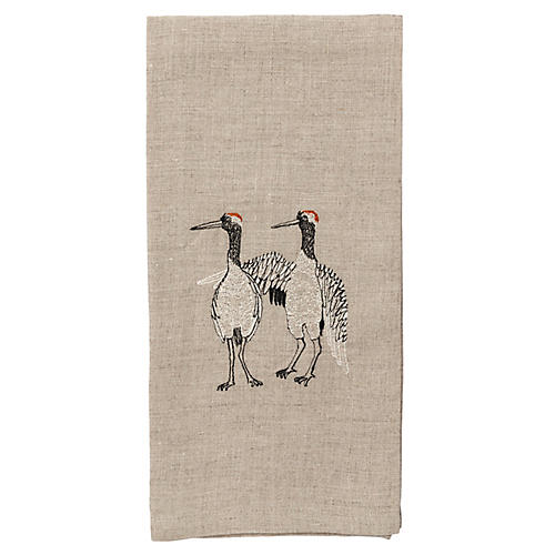 Cranes Tea Towel