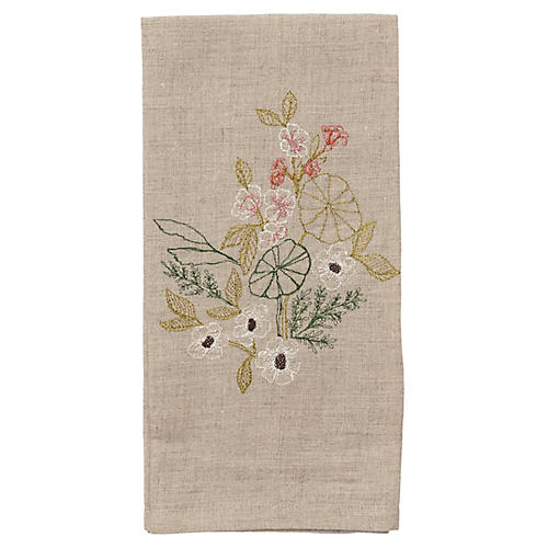Meadow Blossoms Tea Towel