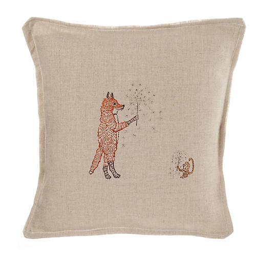 Sparklers 12x12 Pillow, Natural Linen