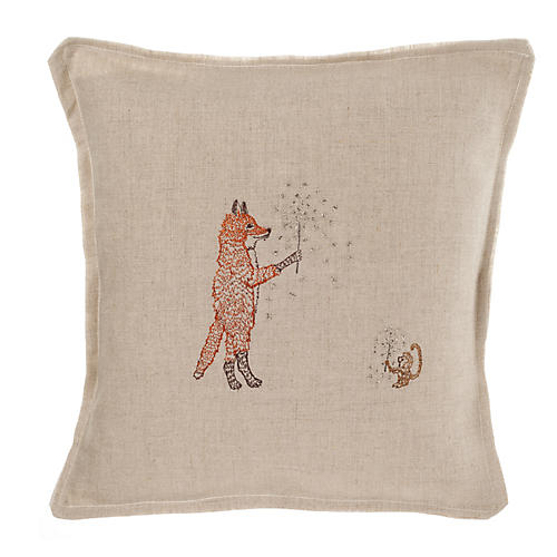 Sparklers 12x12 Pillow, Natural Linen